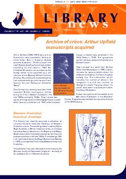 JULY  2002  ISSN 1444-8157Archive of crime: Arthur Upfieldcame to Aust