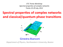 Spectral properties of complex networks and PowerPoint PPT Presentation