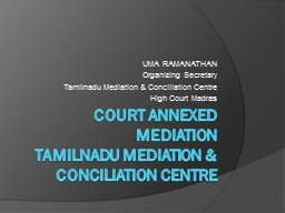 COURT ANNEXED MEDIATION