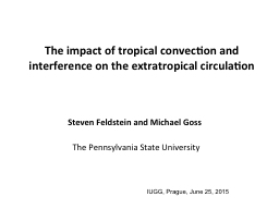 The impact of tropical convection and interference on the