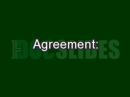 Agreement: