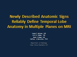 Newly Described Anatomic Signs Reliably Define Temporal Lob PowerPoint PPT Presentation