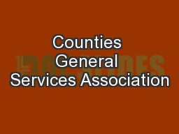Counties General Services Association