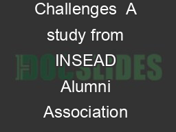 Dubai   London   Paris  A study from INSEAD Alumni Association France and Challenges  A study from INSEAD Alumni Association France and Challenges   A study from INSEAD Alumni Association France and PDF document - DocSlides