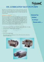 """Manufacture of """"Toshniwal"""" Vacuum Pumps commenced in the ear"""
