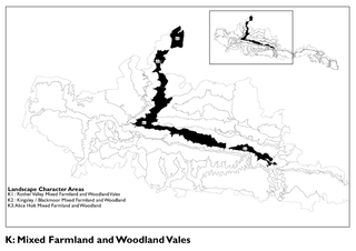 Landscape Character AreasK1 : Rother Valley Mixed Farmland and Woodlan