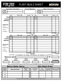 Type Faction SP Ship  Captain Type Faction SP Ship  Captain FLEET BUILD SHEET Tournament Information Faction Allegiance Player Information Date Name Event Ship Ship  Email Card Title Faction SP Type PDF document - DocSlides