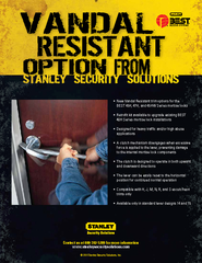 • New Vandal Resistant trim options for the  BEST 45H, 47H, and