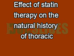 Effect of statin therapy on the natural history of thoracic
