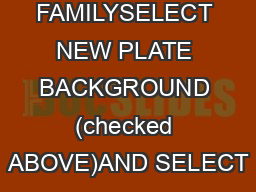 GOLD STAR FAMILYSELECT NEW PLATE BACKGROUND (checked ABOVE)AND SELECT
