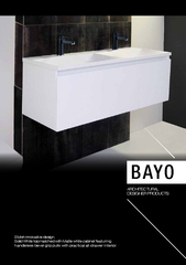 BAYOSolid White top matched with Matte white cabinet featuring handlel