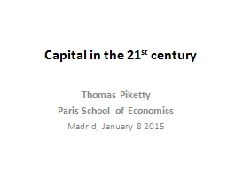 Capital in the 21 PowerPoint PPT Presentation