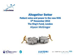 Altogether Better have developed an award winning evidenced based approach to en