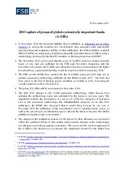 November   pdate of group of global systemically important banks G SIBs PDF document - DocSlides