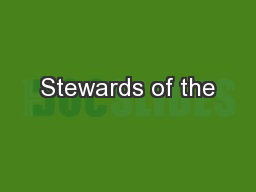 Stewards of the