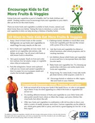 Encourage Kids to Eat  More Fruits & Veggies