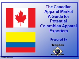 The Canadian Apparel Market