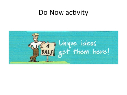 Do Now PowerPoint PPT Presentation