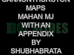 ENDING LAMINATIONS AND CANNONTHURSTON MAPS MAHAN MJ WITH AN APPENDIX BY SHUBHABRATA DAS AND MAHAN MJ Abstract PDF document - DocSlides