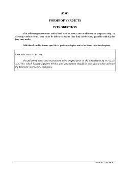 45.00FORMS OF VERDICTSINTRODUCTIONThe following instructions and relat