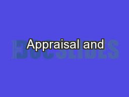 Appraisal and