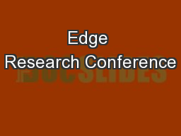 Edge Research Conference