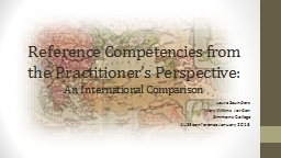 Reference Competencies from the Practitioner's Perspectiv