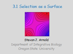 3.1 Selection as a Surface