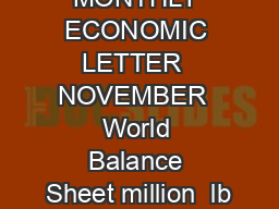 MONTHLY ECONOMIC LETTER  NOVEMBER  World Balance Sheet million  lb