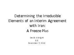 Determining the Irreducible Elements of an Interim Agreemen