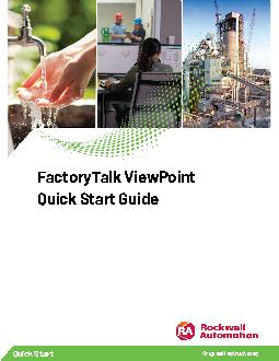 FactoryTalk ViewPoint Quick Start Guide PowerPoint PPT Presentation