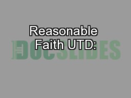 Reasonable Faith UTD:
