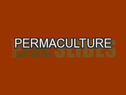 PERMACULTURE PowerPoint PPT Presentation