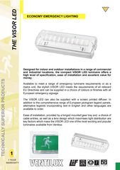 and industrial locations, the compact VISOR LED luminaire offers a  ..