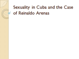 Sexuality in Cuba and the PowerPoint PPT Presentation