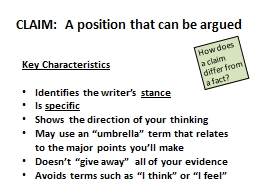 CLAIM:  A position that can be