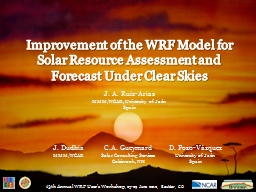 Improvement of the WRF Model for Solar Resource Assessment