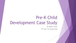 Pre-K Child Development Case Study