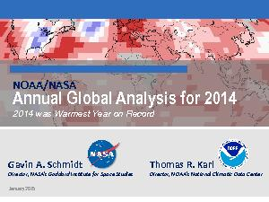 Annual Global Analysis for 2014