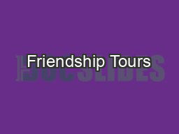 Friendship Tours PDF document - DocSlides