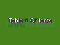 Table ܈ C܊tents