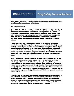 FDA warns that SGLT2 inhibitors for diabetes may result in a serious c