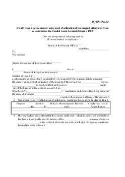 FormNumber D FormLaw Income Tax  Direct Tax FORM N  PDF document - DocSlides
