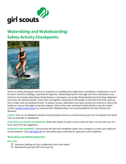 Waterskiing and Wakeboarding: