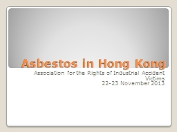Asbestos in Hong Kong