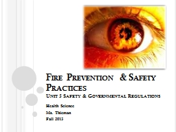 Fire Prevention & Safety Practices