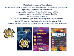 What is Positive Coaching PowerPoint PPT Presentation
