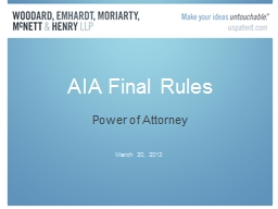 AIA Final Rules