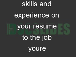 Careers Centre Why send a cover letter An eective cover letter links the skills and experience on your resume to the job youre applying for and the organisation youre applying to