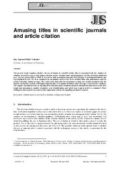 Accepted for Publication By the Journal of Information Science httpjis PDF document - DocSlides
